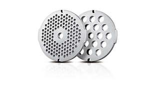 2 discuri de măcinare igienice din oţel inoxidabil (5, 8 mm)