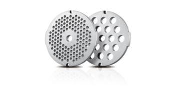 2 решетки для фарша из нержавеющей стали (5 мм и 8 мм)