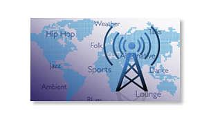 Bucuraţi-vă de mii de posturi radio gratuite pe Internet