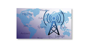 Enjoy thousands of free Internet radio stations
