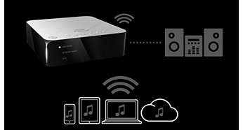 Easily connect to your home stereo to enjoy music wirelessly