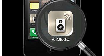 Bruk AirStudio+ Lite til å kontrollere musikken fra den mobile enheten