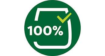 馬達軸封與軸承採用 100% 食品級潤滑油