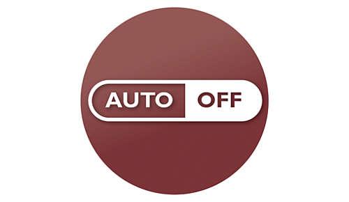Automatische uitschakeling na 30 minuten voor de veiligheid en om energie te besparen