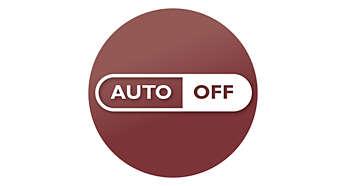 Desconexión automática en 30 minutos para ahorrar energía y por seguridad