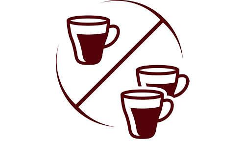 Einzigartige Kaffeemaschine, die 2 Tassen gleichzeitig zubereitet