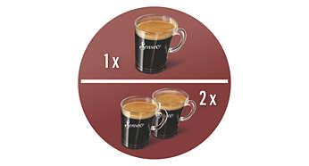 Machine à café unique préparant 2tasses à la fois