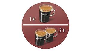 La seule machine à café à dosettes préparant deux tasses à la fois