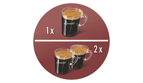 Die einzige Kaffeepad-Maschine, die zwei Tassen gleichzeitig zubereitet
