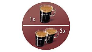 Exclusiva cafeteira que prepara 2 xícaras de uma vez