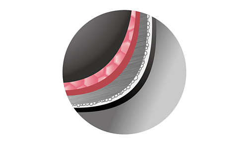 Extra dikke binnenpan van 2,0 mm verdeelt de warmte gelijkmatig