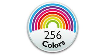 elige entre 256 colores