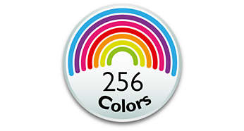 choose among 256 colors