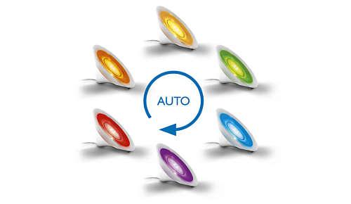 automatische kleurenloop