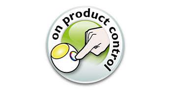 Controlo fácil no produto