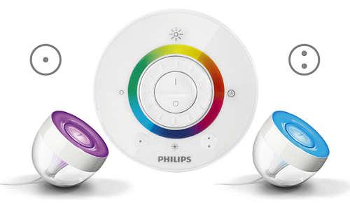 twee knoppen om uw favoriete kleuren op te slaan