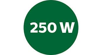 Alta rotação com motor de 250W para melhores resultados