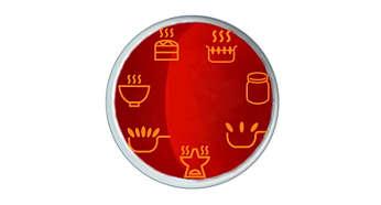 7 款健康烹調功能表,提供特定的加熱程式