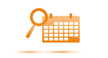 Calendar search for easily finding taken recordings