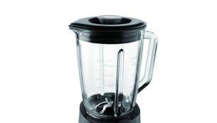 Kuni 2 liitrit mahutav (1,5 liitrit toidu korral) kvaliteetne klaasnõu