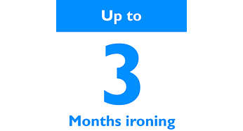 Up to 3 months' ironing