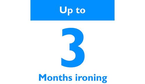 Silitä jopa 3 kuukautta
