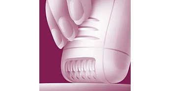 Formato ergonômico para maior conforto na depilação