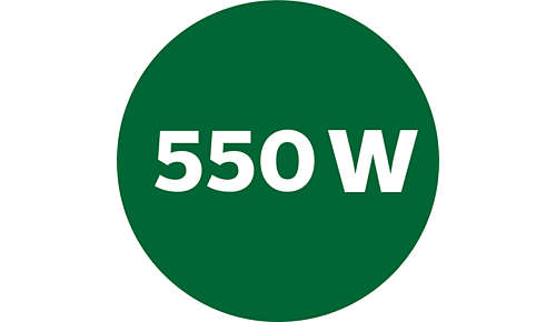 Strong 550-W motor