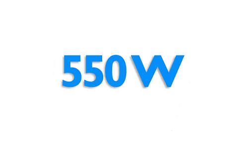 Kraftfuld motor på 550 W