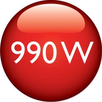 Potencia de 990 W