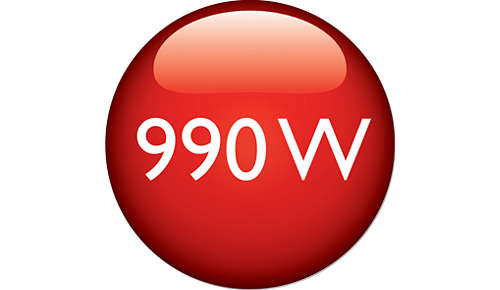 990 W di potenza