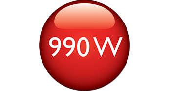 Effekt på 990W