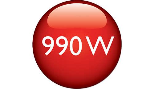 Puissance de 990W