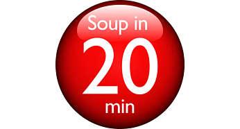 Valmista suosikkikeittoasi 20 minuutissa