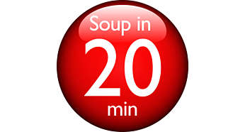 Elabore su sopa favorita en 20minutos