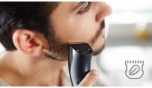 Zaokrąglone końcówki zapewniają łagodny kontakt ze skórą