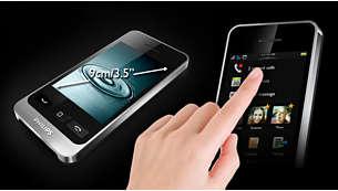 """Grand écran tactile capacitatif 9cm (3,5"""")"""