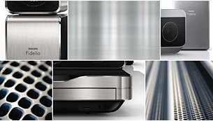 Sophisticated design with high-quality aluminium finishing