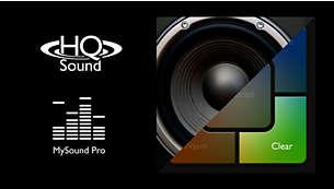 Voix parfaitement claires avec HQ-Sound et Mon profil sonore pro