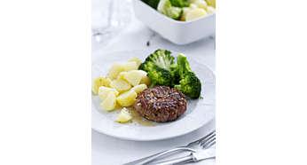 Das Zubehörteil ermöglicht Ihnen die Zubereitung von flacheren Speisen