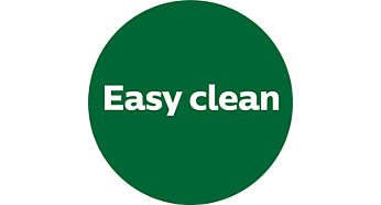 "Dedicated ""Easy Clean"" button for increased convenience"