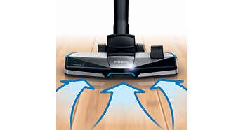 La nouvelle brosse 3en1 TriActive+ aspire les poussières fines et grosses