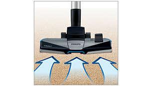 Novi nastavek TriActive+ 3-v-1 pobere večje in manjše delce prahu