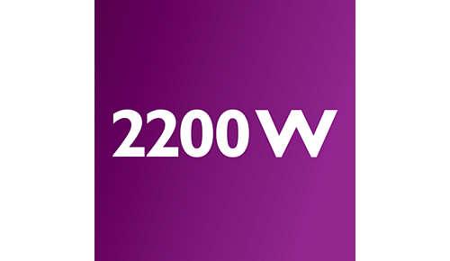 2200 Watt motor generating max. 500W suction power