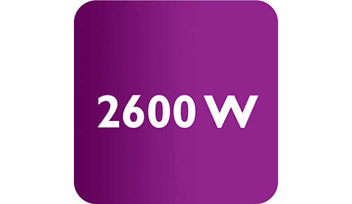 2600W iron for fast heat-up and powerful performance