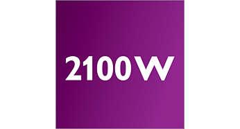 Мотор мощностью 2100 Вт с генерирует силу всасывания 475 Вт