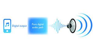 Čistě digitální zpracování pro čistý signál ve vedení zvuku