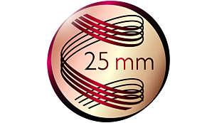 Hajformázó: 25 mm-es henger a természetes hullámokért