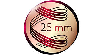 Rizadora: cilindro de 25mm para obtener rizos de aspecto natural
