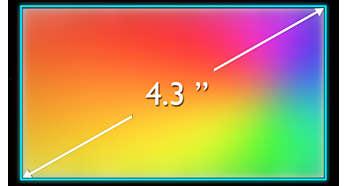 Емкостной сенсорный IPS-экран 4,3'' WVGA обеспечивает яркое изображение